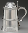 Silver Holloware, British, AN ATKIN BROTHERS SILVER TANKARD, Sheffield, England , circa1897-1898. Marks: (lion passant), (crown), H.A, e. 7-1/8in...