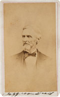 Autographs:Statesmen, Jefferson Davis Carte de Visite Signed....