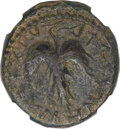 Ancients:Judaea, Ancients: JUDAEA. Bar Kokhba Revolt (AD 132-135). Æ middle bronze(27mm, 13.07 gm, 6h)....