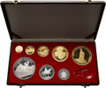 Albania, Albania: People's Socialist Republic eight-piece gold & silver Proof Set 1969,... (Total: 8 coins)