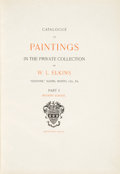 """Books:Art & Architecture, W. L. Elkins. Catalogue of Paintings in the Private Collection of W. L. Elkins """"Elstowe,"""" Elkins, Montig. Co. PA. Pa... (Total: 2 Items)"""