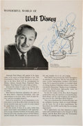 Autographs:Celebrities, Walt Disney Signed Page from a Program for the 1966 Tournament of Roses Parade.... (Total: 7 )
