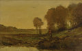Fine Art - Painting, European:Antique  (Pre 1900), ANTOINE CHINTREUIL (French 1816-1873). A Wooded River'sEdge. Oil on board. 9-5/8 x 15-1/4 inches (24.4 x 38.7 cm).Sign...