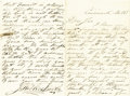 Autographs:Celebrities, John Wilkes Booth Autograph Letter Signed....