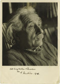 "Autographs:Inventors, Signed and Dated Albert Einstein Photograph Taken by Noted Fashion Photographer Herman Landshoff S.P. ""A. Einstein. 1946"",... (Total: 1 Item)"