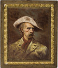 Western Expansion:Cowboy, PORTRAIT OF GENERAL CUSTER BY RICHARD HEADLEY.. Richard Headley hasbeen producing fine art canvasses of the West for deca...