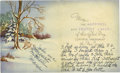 "Autographs:Authors, Margaret Mitchell: Signed Christmas Card, bifolia, 9.25"" x 5.5"", Atlanta, Georgia, includes envelope dated December 21, 1948..."