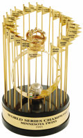 Baseball Collectibles:Others, 1991 Minnesota Twins World Series Championship Trophy. Ranked byESPN as the greatest Series ever played, five of this clas...
