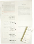 Autographs:Others, 1935 New York Yankees Uniform Player's Contracts Lot of 6. Grouping of fully executed contracts brought six athletes into t...