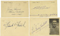 Autographs:Post Cards, 1940's-50's Hall of Famers Signed Government Postcards Lot of 15.Not a single autograph dips below a quality of 9/10 in th...