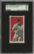 Baseball Cards:Singles (Pre-1930), 1910 E93 Standard Caramel Co. Honus Wagner SGC 70 EX+ 5.5. From the inception of the National League Wagner dominated. He le...