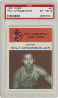Basketball Cards:Singles (Pre-1970), 1961-62 Fleer Wilt Chamberlain #8 PSA EX-MT 6. Magnificent colorand registration paired with the slickest gloss on the blo...