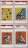 Baseball Cards:Lots, 1948-49 Leaf PSA-Graded Collection (4). This selection of '48-49Leaf Gum Co. baseball cards contains the universally admire...