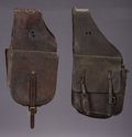 Western Expansion:Cowboy, TWO PAIRS OF SADDLE BAGS ca. 1930s - . a) Duhamel and Ackerman -Rapid City, S.D.; large flap pockets; restored interior... (Total:2 Items)