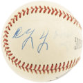 Autographs:Baseballs, Circa 1950 Cy Young Single Signed Baseball. Just four faded lettersspare this sphere from a five-figure price tag, making ...