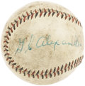 Autographs:Baseballs, Circa 1930 Grover Cleveland Alexander Single Signed Baseball. Weexpect that there will be a fairly sizable group of bidder...