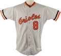 """Baseball Collectibles:Hats, 1985 Cal Ripken, Jr. Game Worn Uniform. """"Sometimes when he gets hitby a pitch I'm almost embarrassed to ask him about it,""""..."""