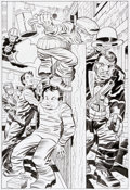Original Comic Art:Splash Pages, Angel Gabriele The Guardian and the Newsboy Legion Pin-UpRe-Creation Original Art (2010). ...