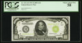 Small Size:Federal Reserve Notes, Fr. 2211-H $1,000 1934 Light Green Seal Federal Reserve Note. PCGS Choice About New 58.. ...