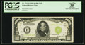 Small Size:Federal Reserve Notes, Fr. 2211-F $1,000 1934 Light Green Seal Federal Reserve Note. PCGS Apparent Very Fine 35.. ...