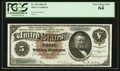 Large Size:Silver Certificates, Fr. 264 $5 1886 Silver Certificate PCGS Very Choice New 64.. ...