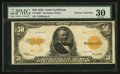 Large Size:Gold Certificates, Fr. 1200* $50 1922 Gold Certificate PMG Very Fine 30.. ...