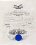 Autographs:U.S. Presidents, Chester A. Arthur Naval Appointment Signed....