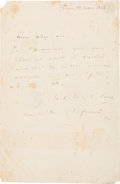Autographs:Artists, Painter Jean-Baptiste-Camille Corot Autograph Letter Signed....