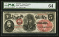 Large Size:Legal Tender Notes, Fr. 69 $5 1878 Legal Tender PMG Choice Uncirculated 64.. ...