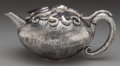 Silver & Vertu:Hollowware, AN EMILIA CASTILLO SILVER AND ROSEWOOD OCTOPUS TEAPOT, Taxco, Mexico, current production. Marks: EMILIA CASTILLO, STERLING... (Total: 2 )
