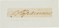 Autographs:Statesmen, Francis Hopkinson Clipped Signature... (Total: 3 Items)