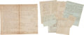 Autographs:Military Figures, [Privateering]. Archive Related to the Privateer Brig Harriot of Rhode Island,...