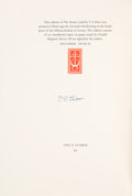 """Books:Literature 1900-up, T. S. Eliot. The Waste Land. London: Faber & Faber,[1961]. First Bodoni edition, one of 300 numbered copies (""""93""""..."""