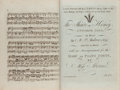 Books:Music & Sheet Music, Bound album of engraved musical scores, comprising:. ...