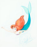 Animation Art:Production Drawing, The Little Mermaid Ariel Drawing by Dave Pacheco (WaltDisney, 1989)....