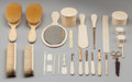 Paintings, A SET OF TWENTY-EIGHT ASPREY IVORY DRESSING ACCOUTREMENTS, London, England, circa 1900. 10-1/2 inches high (26.7 cm) (mirror... (Total: 28 Items)