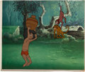 Animation Art:Production Cel, The Jungle Book Mowgli and Monkeys Production Cel Setup(Walt Disney, 1967)....