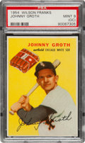 Baseball Cards:Singles (1950-1959), 1954 Wilson Franks Johnny Groth PSA Mint 9 (OC). ...