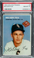Baseball Cards:Singles (1950-1959), 1954 Wilson Franks Nellie Fox PSA NM-MT 8 - None Higher! ...