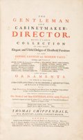 Books:Art & Architecture, Thomas Chippendale. The Gentleman and Cabinet-Maker'sDirector. Being a large Collection of the most Elegant and...