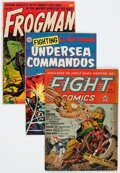 Golden Age (1938-1955):War, Comic Books - Assorted Golden Age War Comics Group (Various Publishers, 1940s-'50s) Condition: Average GD/VG.... (Total: 14 Comic Books)