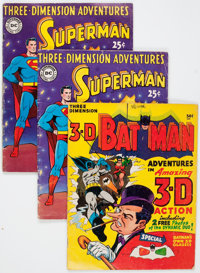 Three-Dimension Adventures/3-D Batman Group (National Periodicals, 1953-66) Condition: GD/VG.... (Total: 4 Comic Books)