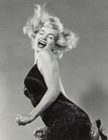 Photographs, PHILIPPE HALSMAN (American, 1906-1979). Marilyn Jumping, 1959. Gelatin silver, printed 1981. 12-3/4 x 9-3/4 inches (32.4...