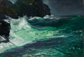 Fine Art - Painting, American:Modern  (1900 1949)  , GEORGE WESLEY BELLOWS (American, 1882-1925). Storm Sea,1913. Oil on board. 13-1/8 x 19-1/2 inches (33.3 x 49.5 cm). Sig...