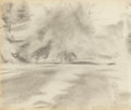 Fine Art - Work on Paper:Drawing, EDWIN WALTER DICKINSON (American, 1891-1978). Field, Laucieux,C, du N. , 1938; Sheldrake House, 1939; View upCay... (Total: 3 Items)