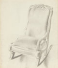 Fine Art - Work on Paper:Drawing, EDWIN WALTER DICKINSON (American, 1891-1978). Child's ChairE.H.D 1860, 1943; View from a Window at Wellfleet,1935;... (Total: 3 Items)