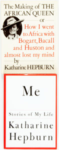 Books:Biography & Memoir, Katharine Hepburn. The Making of the African Queen, or How IWent to Africa with Bogart, Bacall and Huston and Almost Lo...(Total: 2 Items)