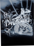 Animation Art:Production Drawing, Fantasmic Disneyland Illustration (Walt Disney, 1992)....