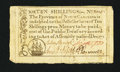 Colonial Notes:North Carolina, North Carolina December, 1771 10s Very Fine+.. ...