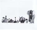 animation art:Model Sheet, The Jungle Book Studio Model Sheet Group (Walt Disney,1967).... (Total: 7 Items)